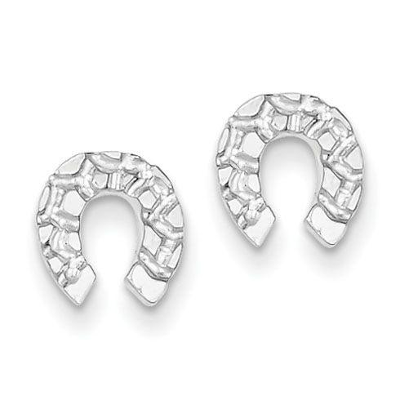 Sterling Silver Horseshoe Mini Earrings