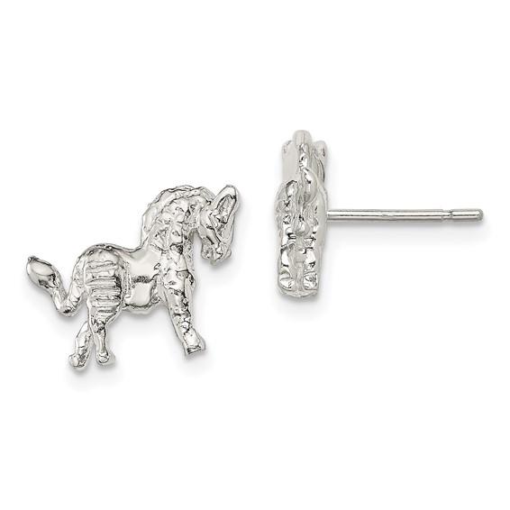 Sterling Silver Unicorn Mini Earrings
