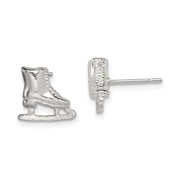 Sterling Silver Ice Skate Mini Earrings