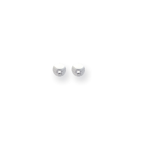 4mm Ball Earrings - Sterling Silver