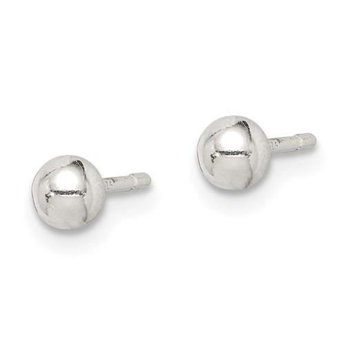 4mm Ball Earrings - Sterling Silver