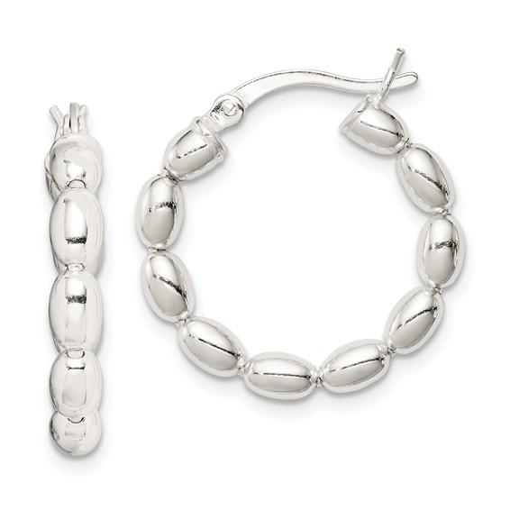 7/8in Twisted Hoop Earrings - Sterling Silver