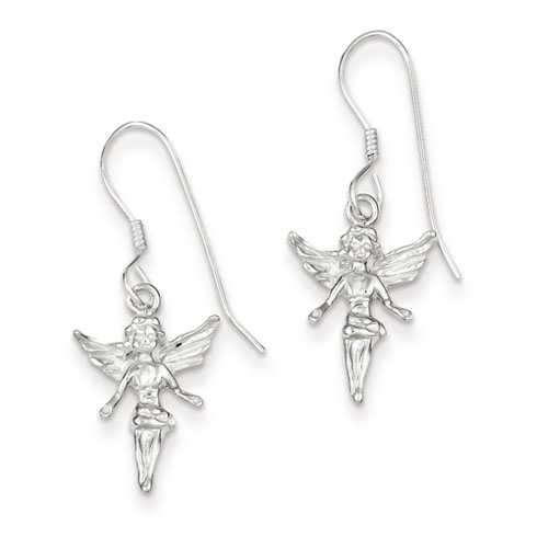 Sterling Silver Fairy Earrings