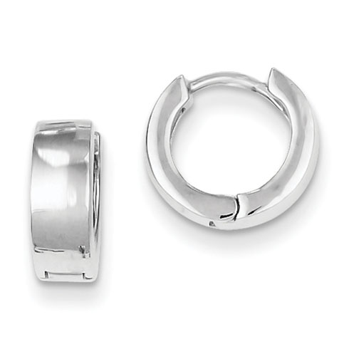 Sterling Silver 3/8in Huggie Earrings