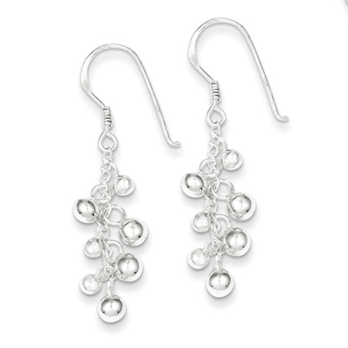 Sterling Silver Fancy Dangle Earrings