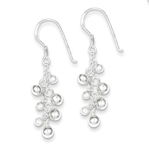 Sterling Silver Fancy Dangle Earrings