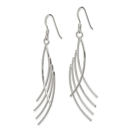 Sterling Silver Fancy Earrings 2 1/4in