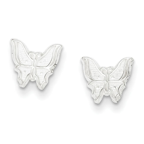 Sterling Silver Mini Butterfly Post Earrings