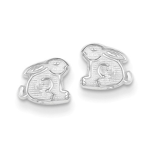 Sterling Silver Bunny Mini Earrings