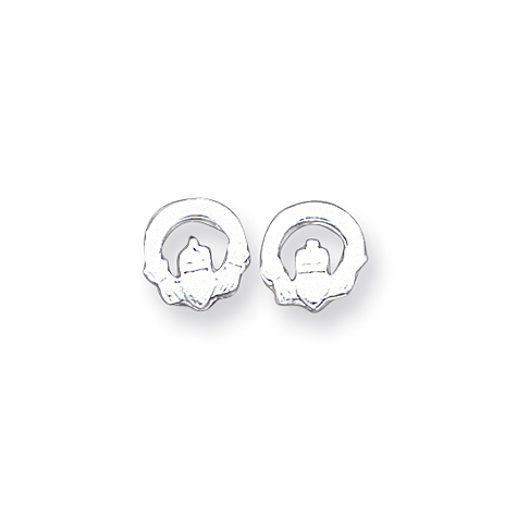 Sterling Silver Claddagh Mini Earringss