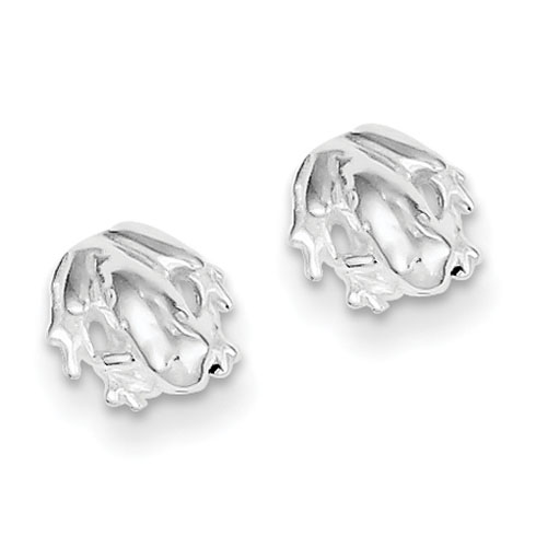 Sterling Silver Frog Mini Earrings