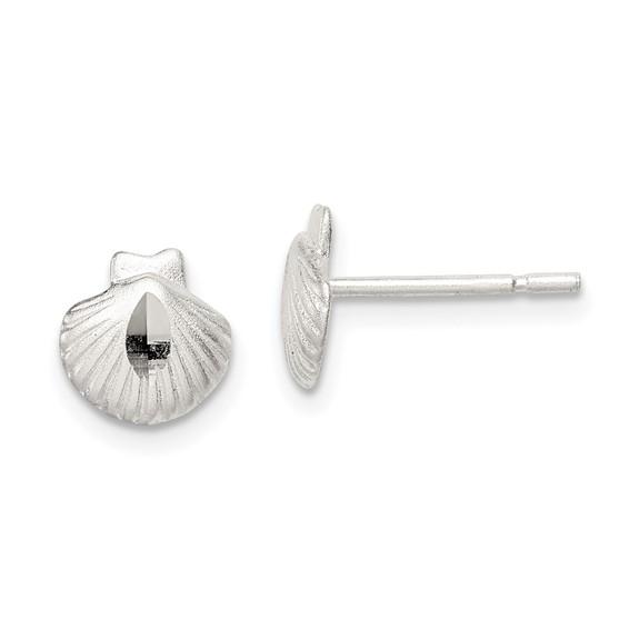 Sterling Silver Shell Mini Earrings
