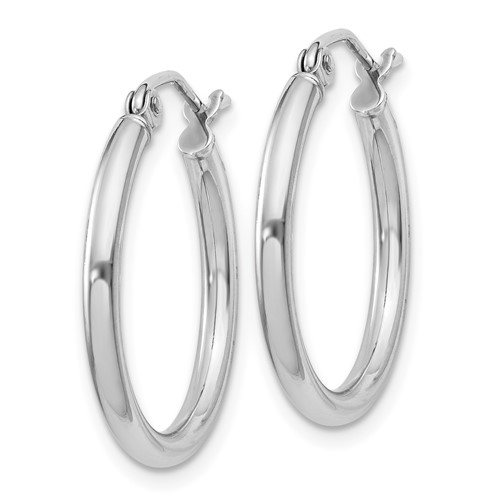 Sterling Silver 3/4in Round Hoop Earrings 2mm