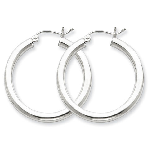 1 1/8in x 3mm Hoop Earrings