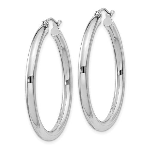 1 1/4in x 3mm Hoop Earrings