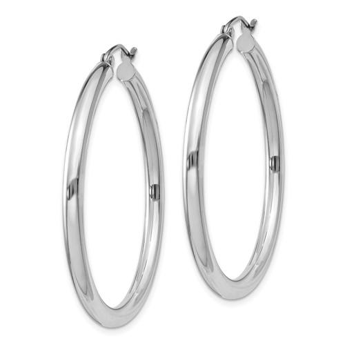 1 1/2in x 3mm Hoop Earrings