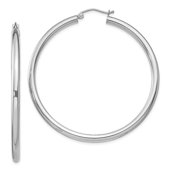 2in x 3mm Hoop Earrings