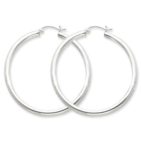 1 3/4in x 3mm Hoop Earrings
