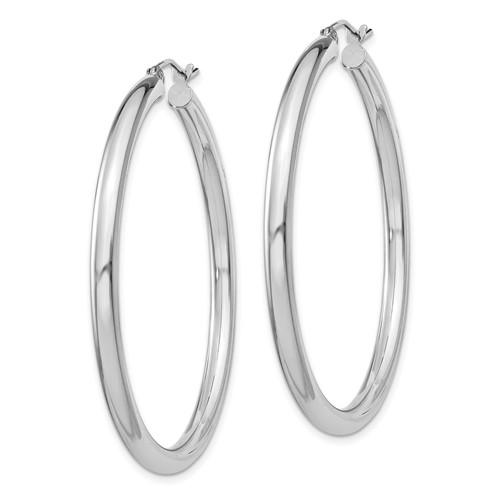 1 3/4in x 3mm Hoop Earrings