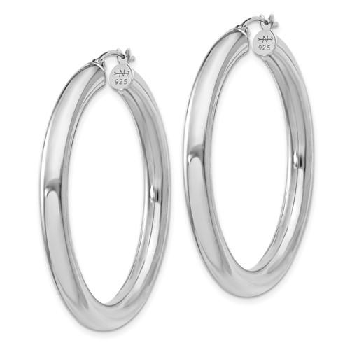 1 1/2in x 4mm Hoop Earrings