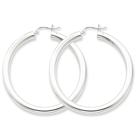 1 3/4in x 4mm Hoop Earrings