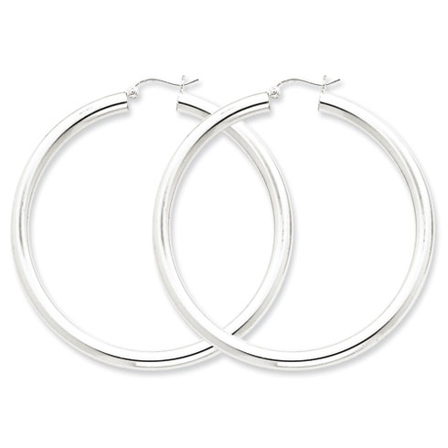 2 3/16in x 4mm Hoop Earrings