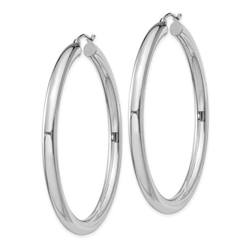 2 3/16in x 4mm Hoop Earrings