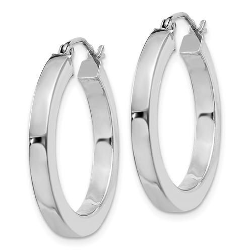 Sterling Silver 1in Hoop Earrings 3.25mm