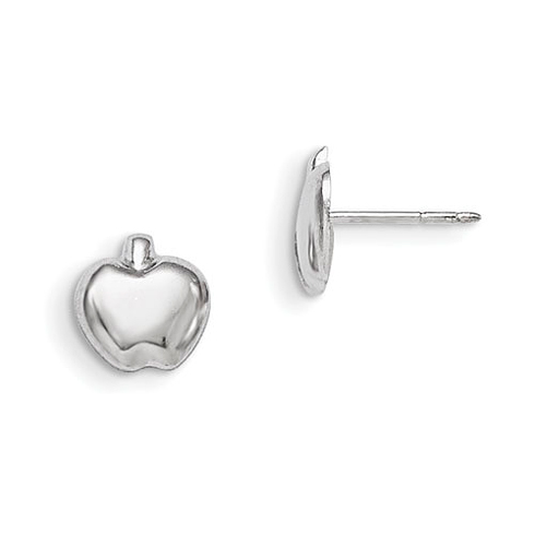 Sterling Silver Apple Post Earrings