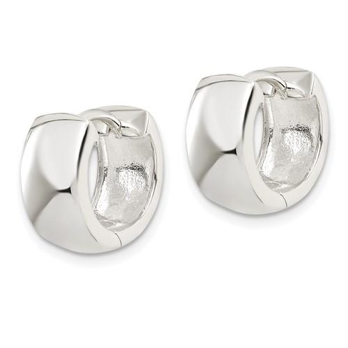Sterling Silver 1/2in Huggie Earrings 7mm