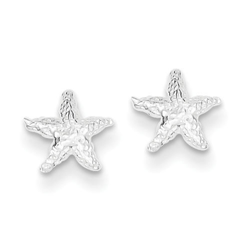 Sterling Silver Mini Starfish Post Earrings