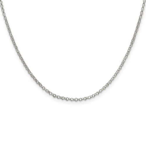 Sterling Silver 18in Rolo Chain 2mm