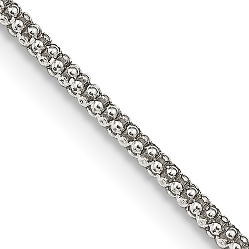 Sterling Silver 16in Fancy Chain 1.60mm