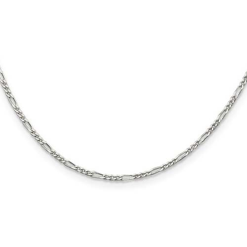 16in Figaro Chain 1.75mm - Sterling Silver