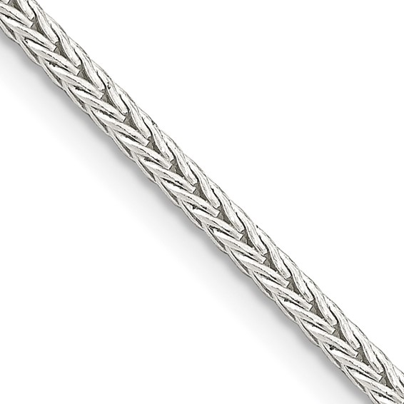 Sterling Silver 7in Square Franco Chain 2mm