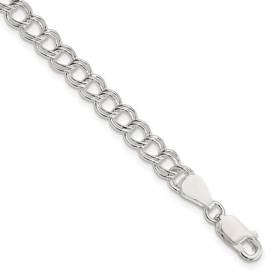 Sterling Silver 7in Polished Italian Charm Bracelet