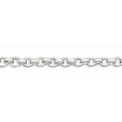 Sterling Silver 7 1/4in Hollow Link Bracelet