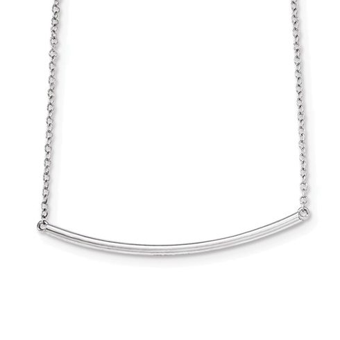 Sterling Silver Long Bar 16in Necklace