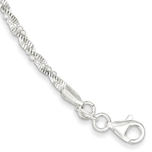 7.5in Twisted Beaded Bracelet