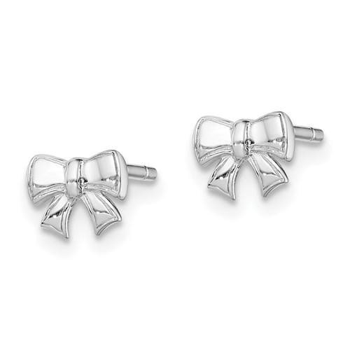 Sterling Silver Madi K Children's Bow Post Earrings