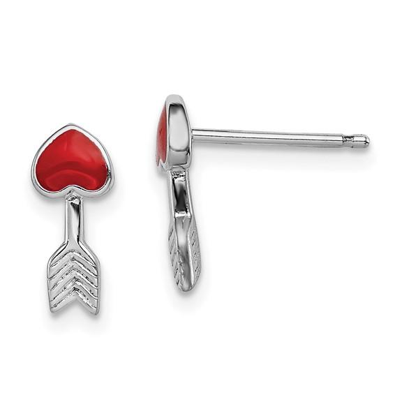 Sterling Silver Madi K Enameled Arrow Post Earrings