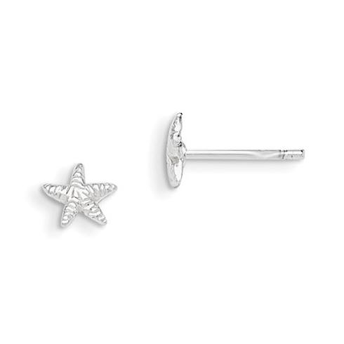 Sterling Silver Madi K Starfish Post Earrings