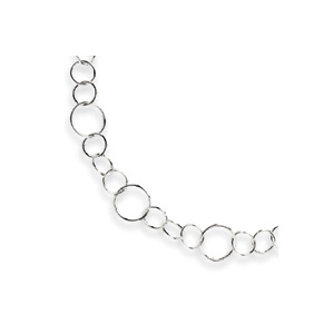 Sterling Silver Fancy Link Necklace 18in