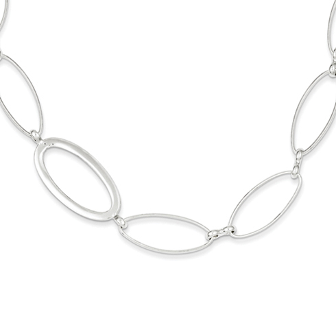 42in Fancy Link Necklace - Sterling Silver