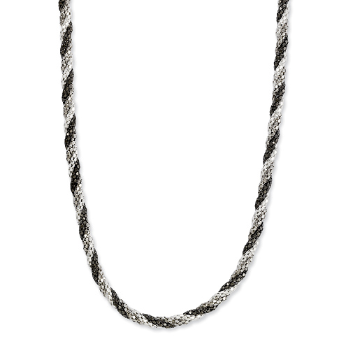 Sterling Silver Braided 18in Necklace