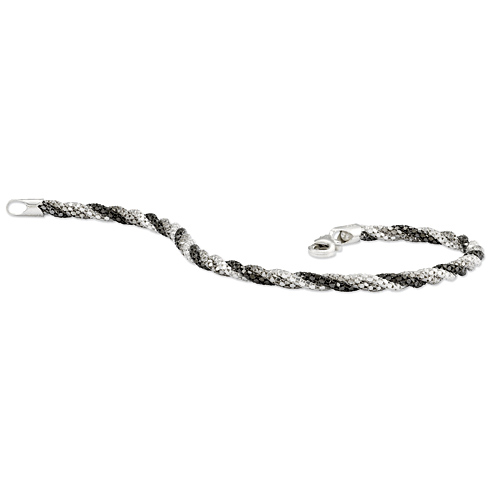 Sterling Silver Braided 7 1/2in Bracelet