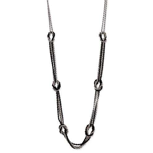Sterling Silver Hercules Knot 24in Necklace