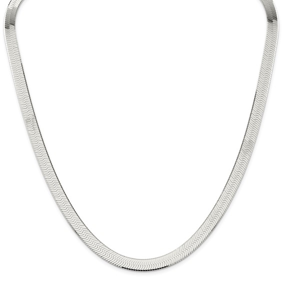 Sterling Silver 18in Magic Herringbone Chain 8mm