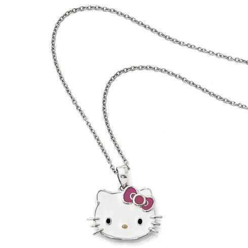 Gold-plated Sterling Silver Hello Kitty Necklace