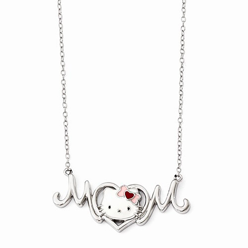 Sterling Silver 18in Hello Kitty Mom Necklace